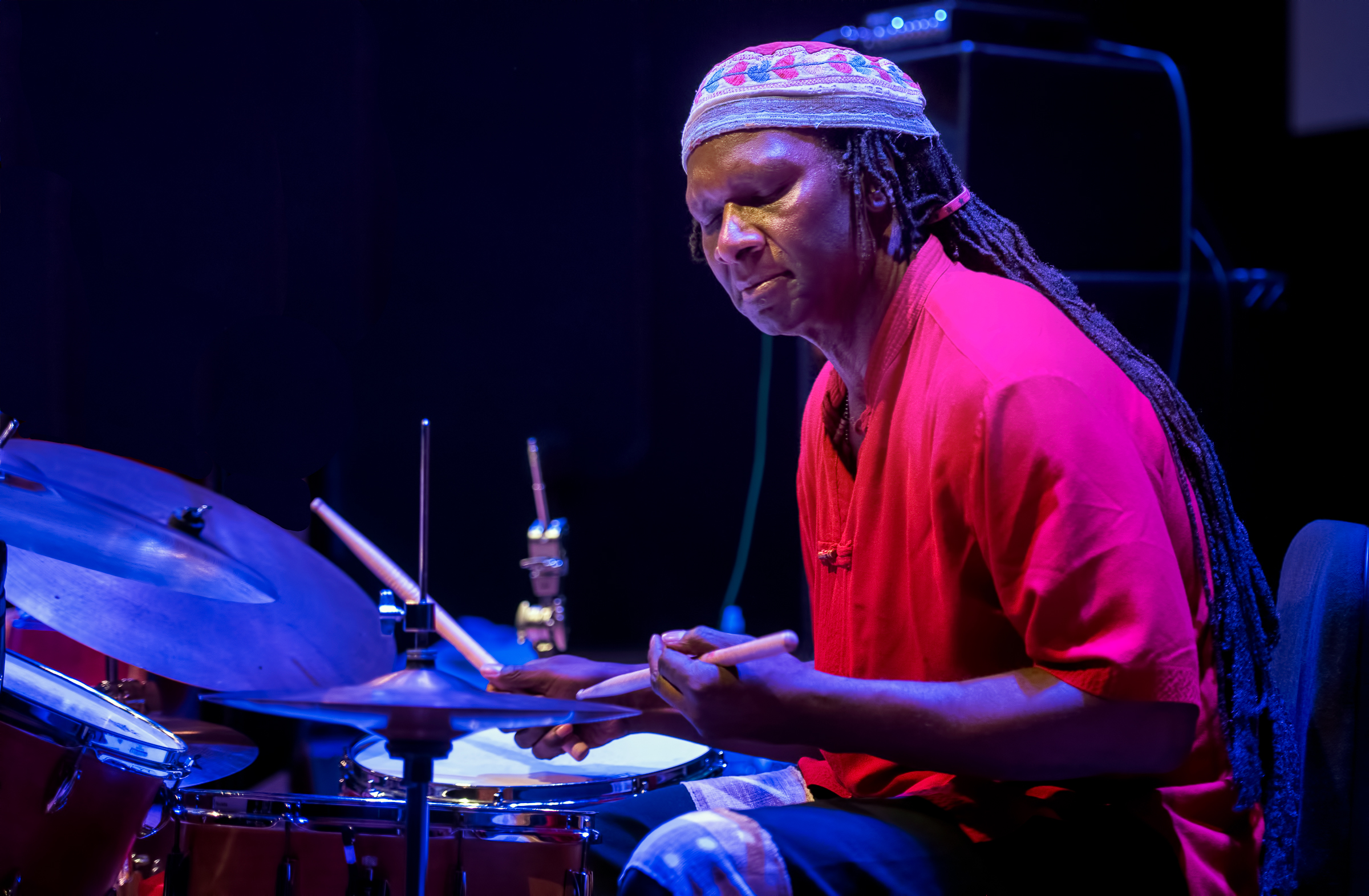 Hamid Drake with the Archie Shepp Quartet At the Vision Festival 2018