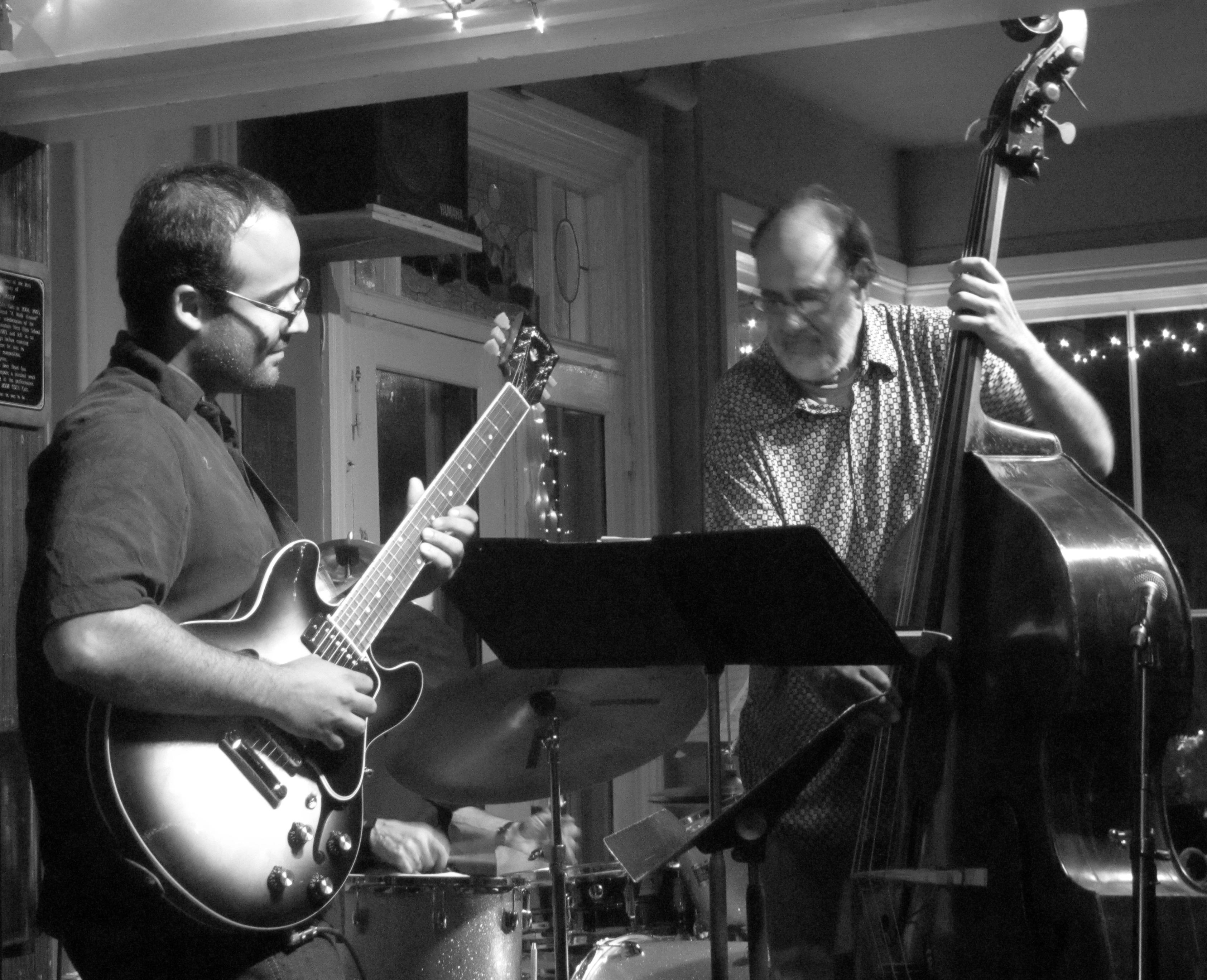 Playing at the Deer Head Inn Jazz Club, Tony Marino on Bass
