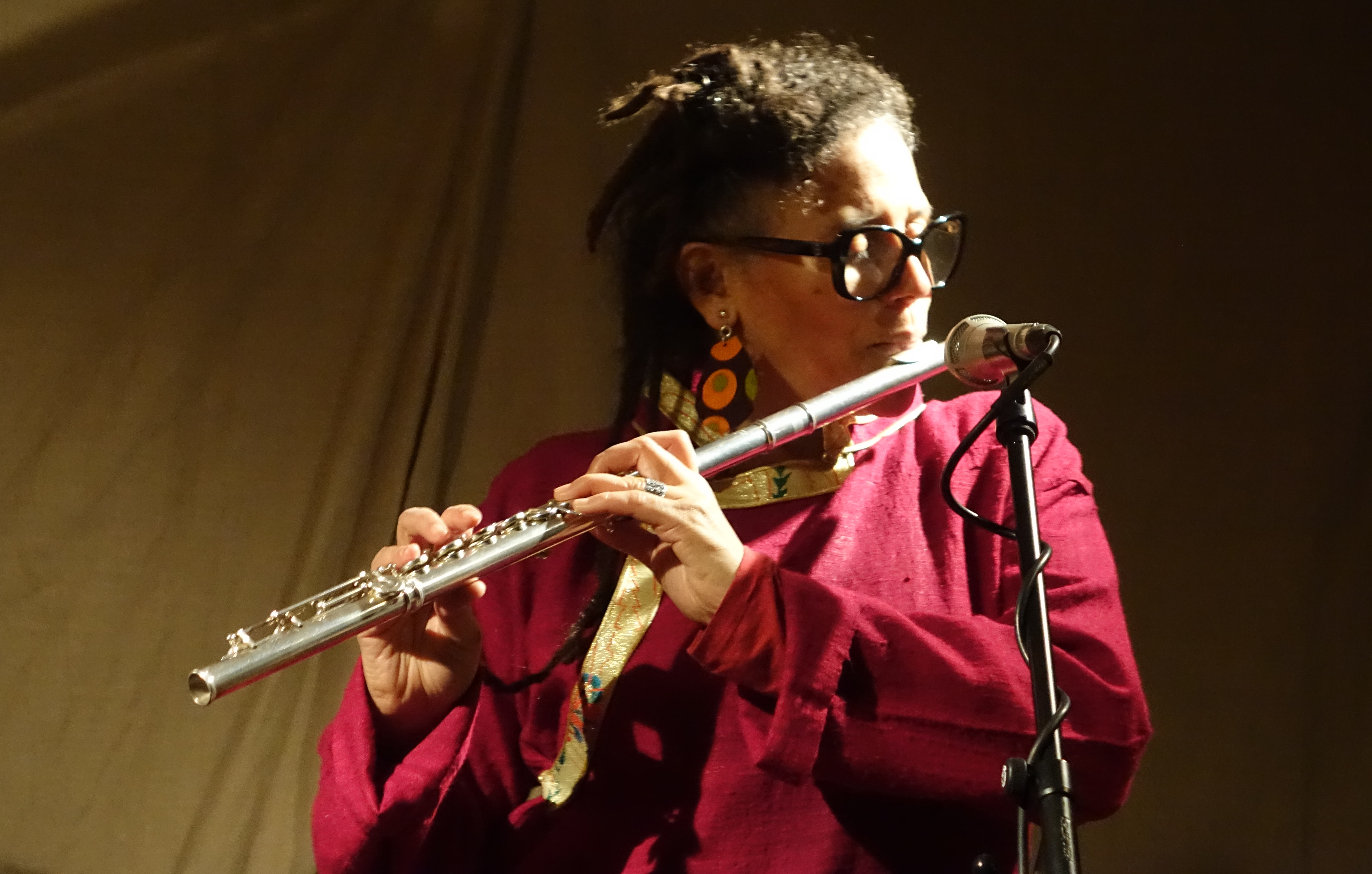 Nicole Mitchell at Cafe Oto, London in April 2019