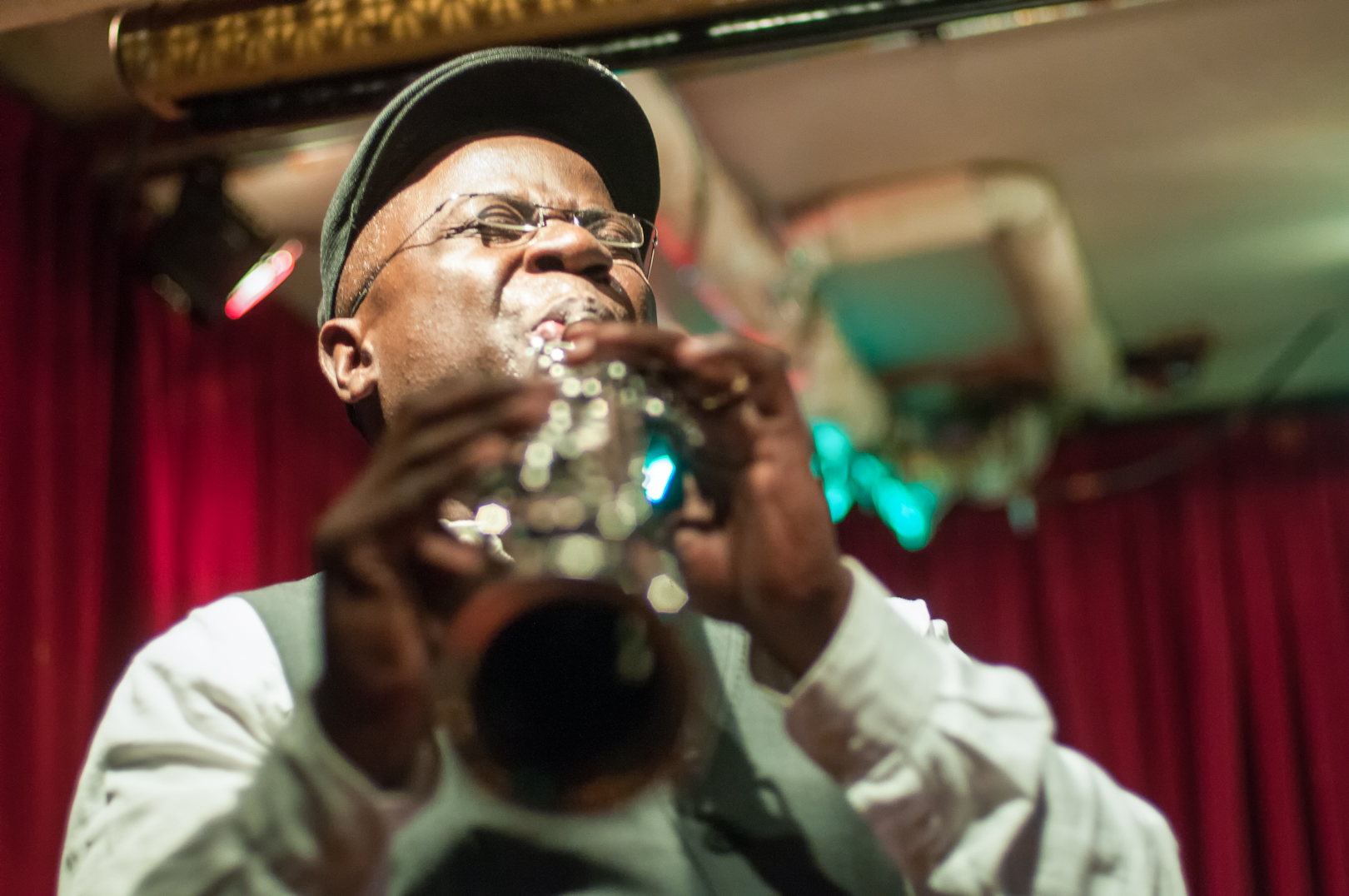Sam Newsome with the David Liebman Quintet at the Cornelia Street Cafe