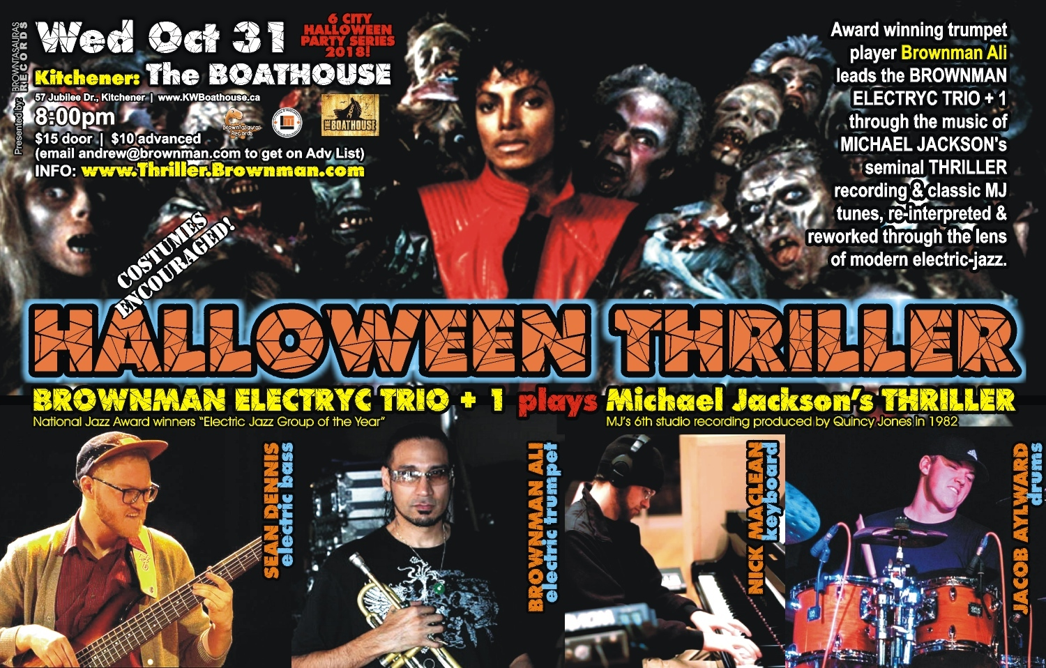 BROWNMAN'S Halloween Thriller (kitchener) - Michael Jackson As Electric-jazz