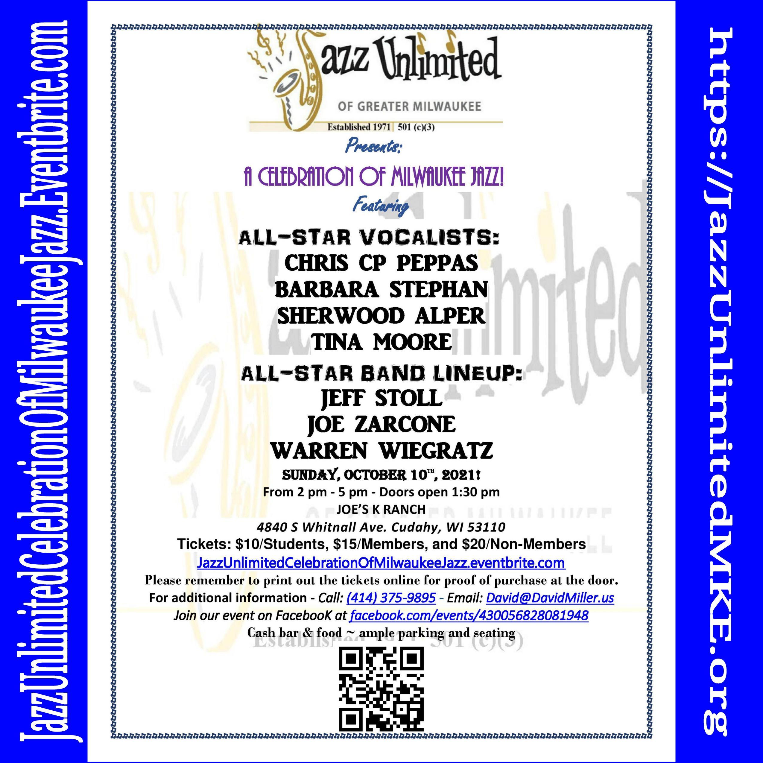 Jazz Unlimited Celebration Of Milwaukee Jazz 2021