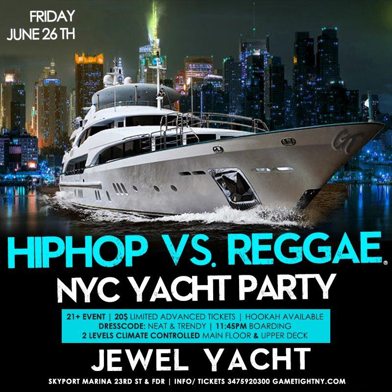 Ny Hip Hop Vs. Reggae® Summer Midnight Yacht Party At Jewel