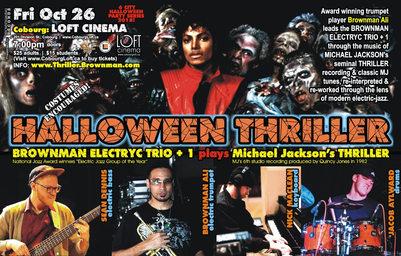 BROWNMAN'S Halloween Thriller (cobourg) - Michael Jackson As Electric-jazz