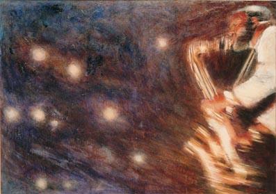 Nightclub: H.100 X B.150 CM. / Acrylic Paint / Painted July 1987
