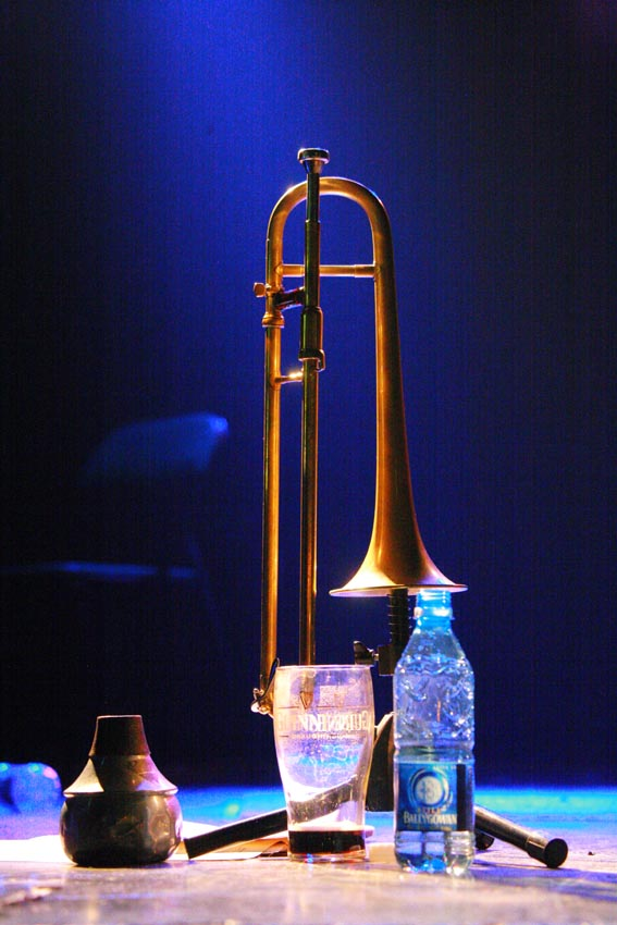 Still Life with Slide Trumpet - Courtesy Steven Bernstein, 'Diaspora Hollywood' at Dolans, Limerick, May 2006
