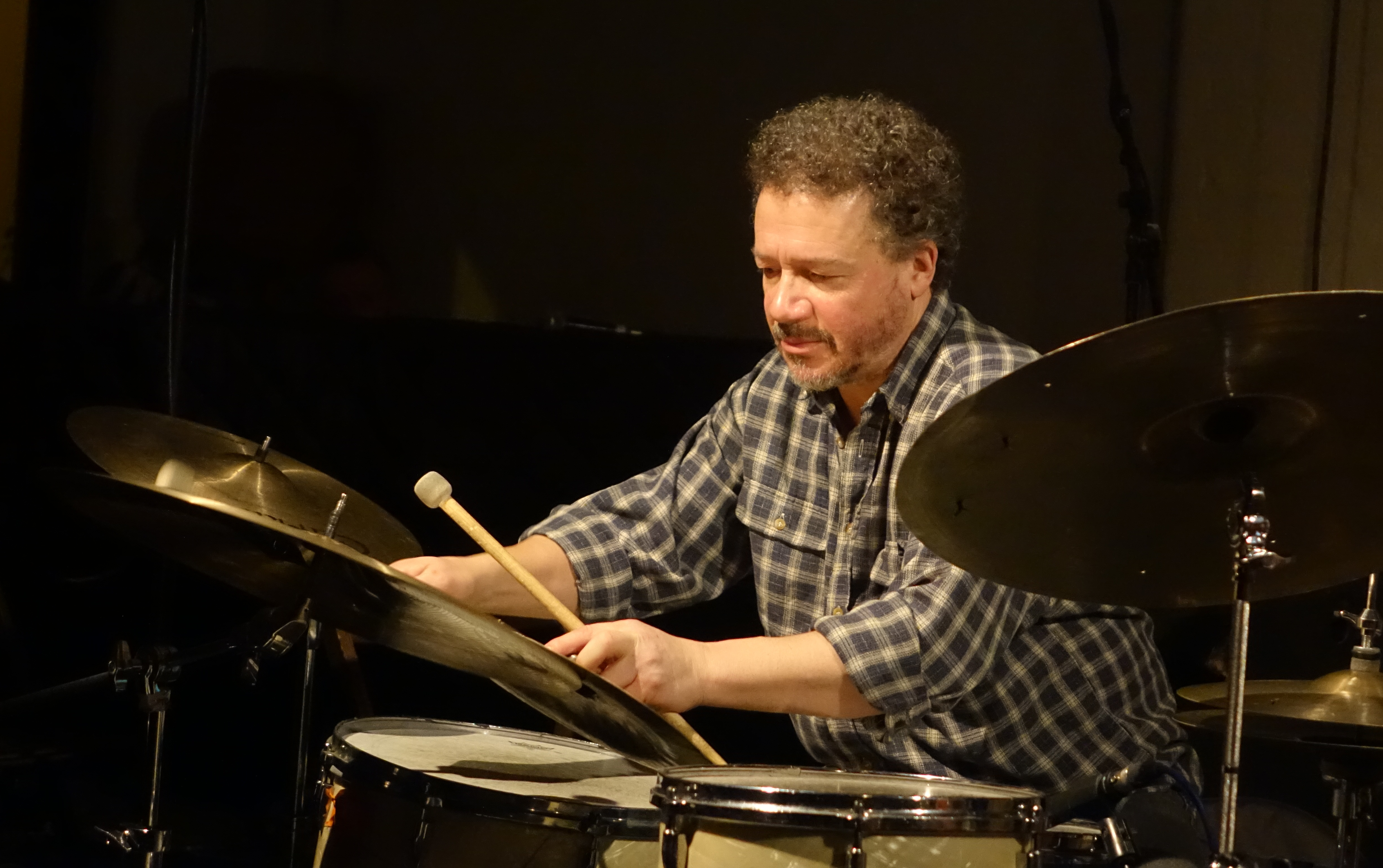 Mark Sanders at Cafe Oto, London in February 2019