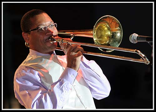 Delfeayo Marsalis at Summer Sizzle Historic Third Ward Jazz Festival in Milwaukee, Wisconsin August 5, 2006
