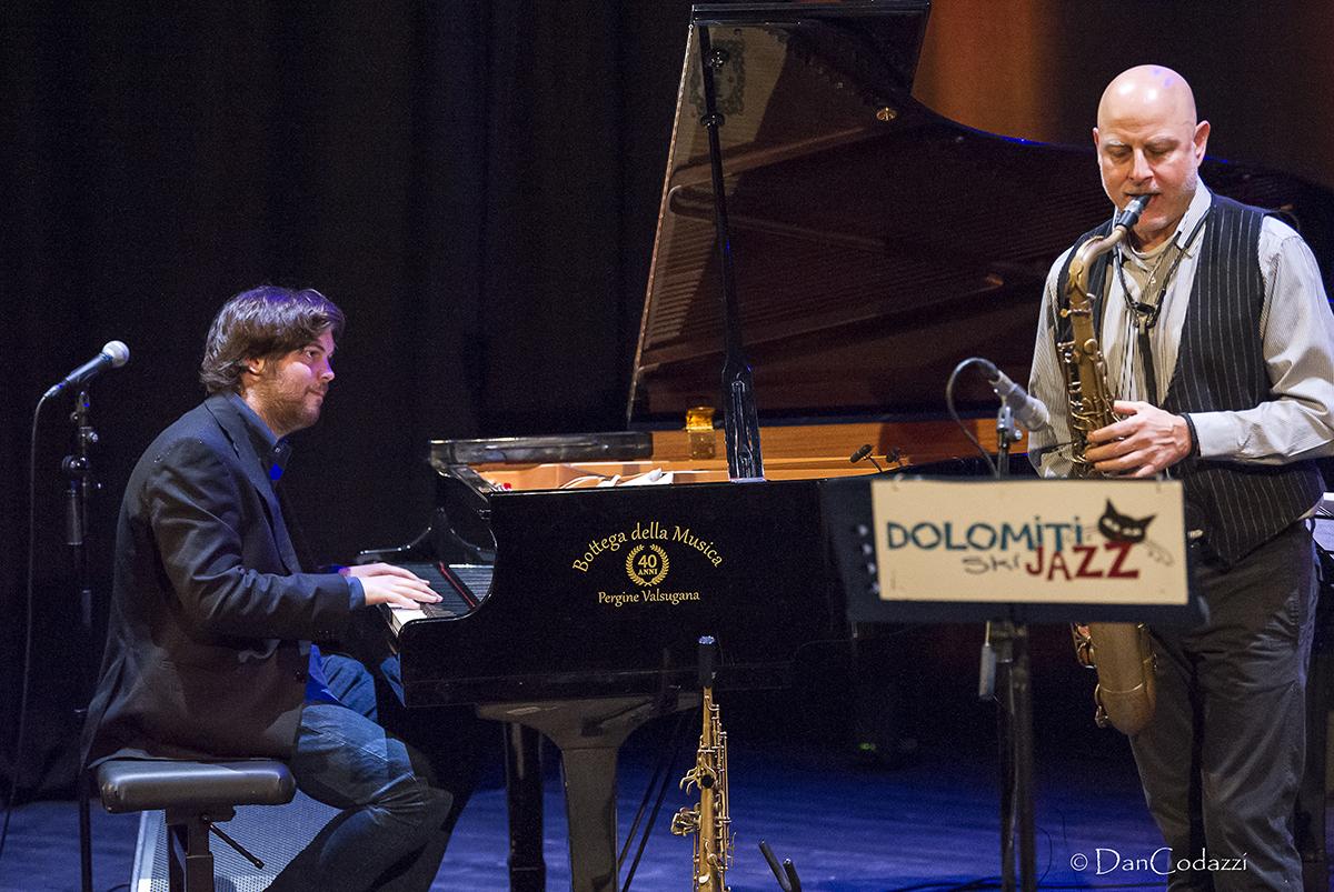 Alessandro Lanzoni and Pietro Tonolo, Dolomiti ski jazz 2019