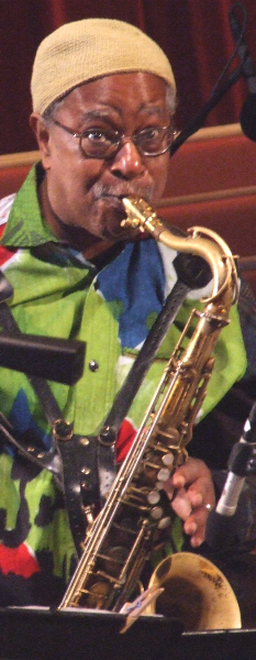 Ari Brown with Nicole Mitchell's Black Earth Orchestra at 2010 Chicago Jazz Festival