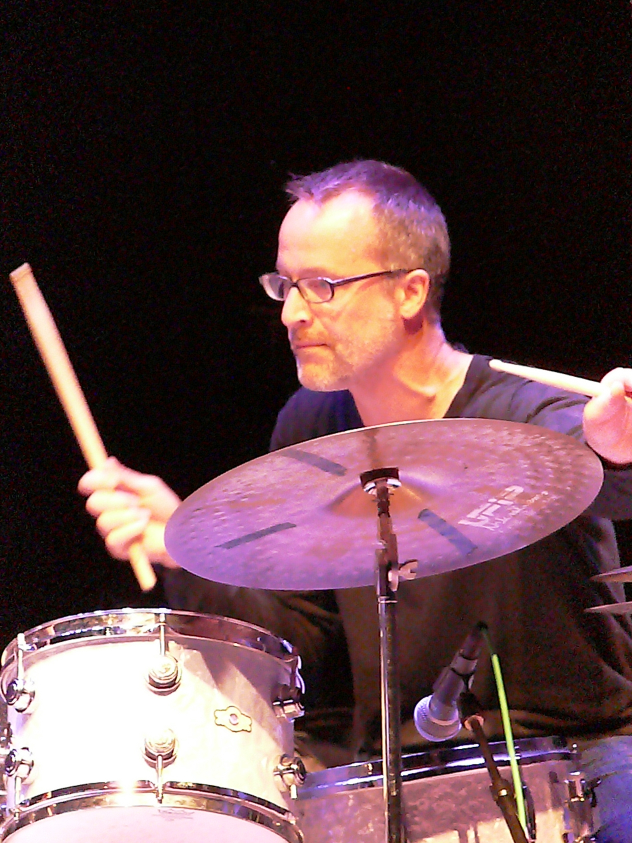 Michael Sarin at the Vision Festival, NYC in June 2012