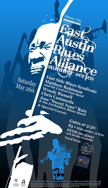 East Side Blues Alliance Summer Series at Harold McMillan's Kenny Dorham's Backyard by Ricardo Acevedo