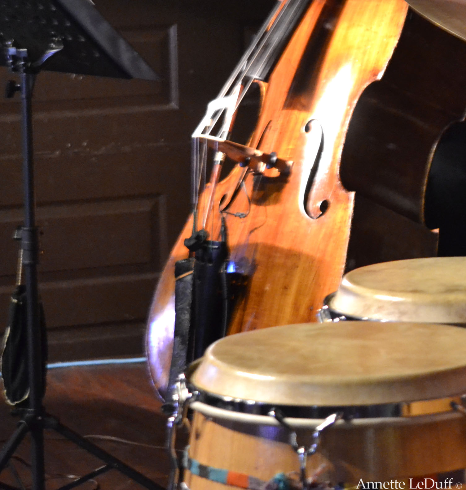 Bass and Congas