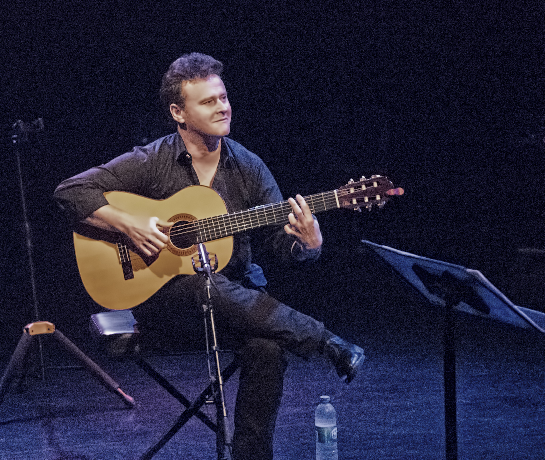 Luc Sylvain with Richard Galliano at the Montreal International Jazz Festival 2015