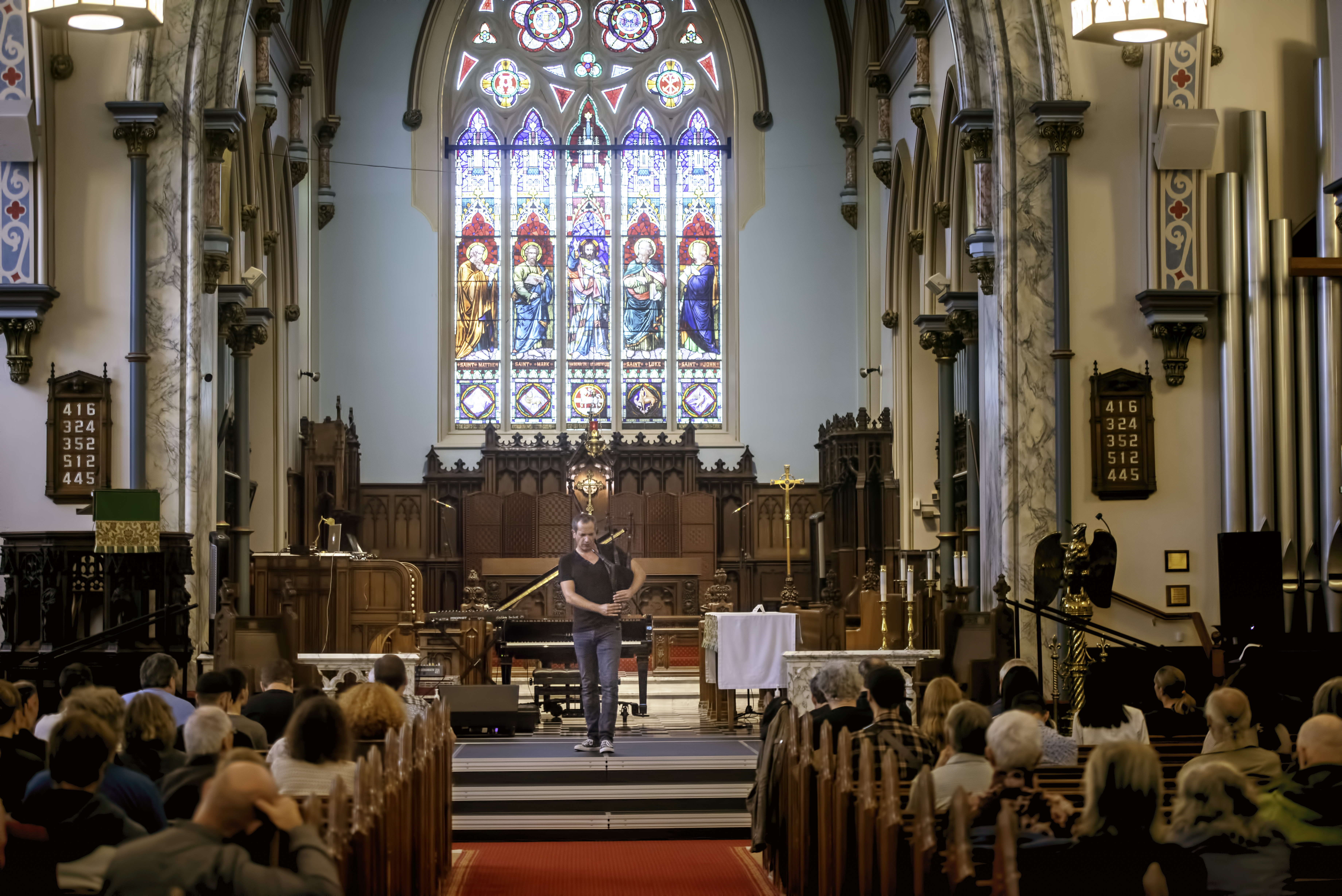 Erwan Keravec at St. Georges Church at the Guelph Jazz Festival 2019