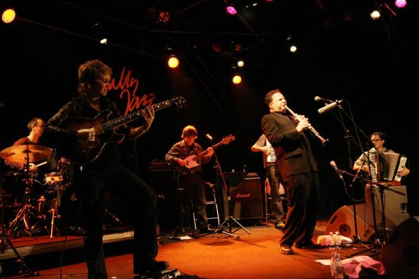 """Michael Sarin, Sheryl Bailey, Unknown Guitarist, David Krakauer and so Called with """"David Krakauer - Klezmer Madness"""" at the Cul"""