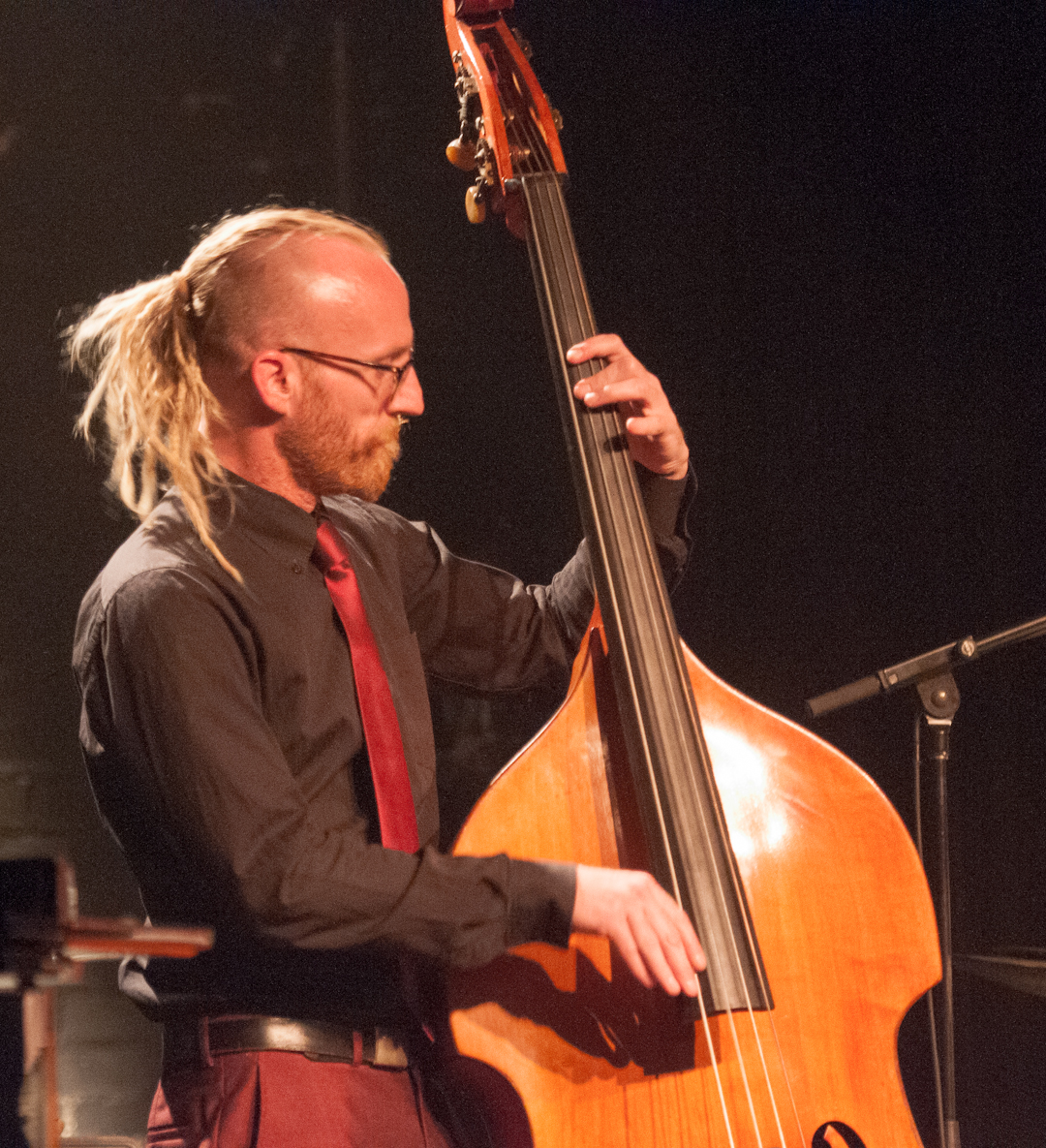 Rex Horan with the Neil Cowley Trio at the Montreal International Jazz Festival 2012