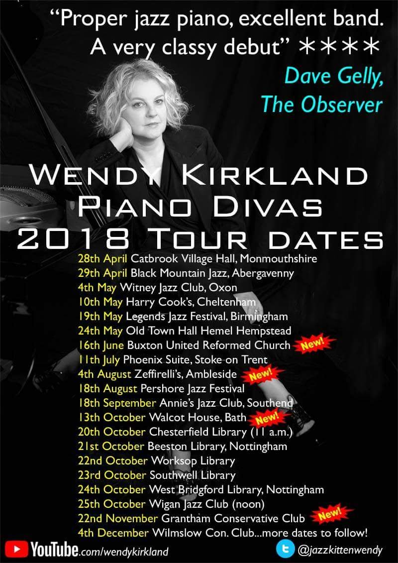 Wendy Kirkland Piano Divas album tour flyer 2018