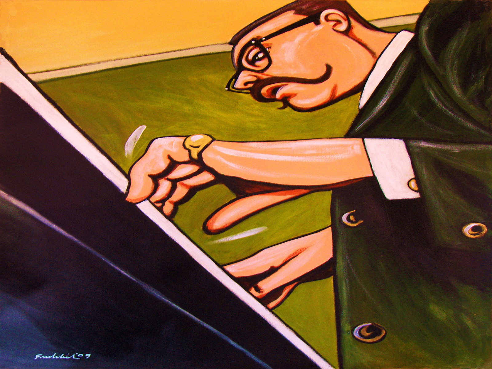 """Vince Guaraldi"""" by John Froehlich - Jazz Photo"""