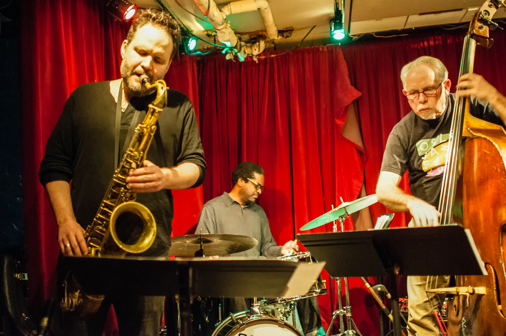 Jason rigby, gerald cleaver and cameron brown at the cornelia street cafe