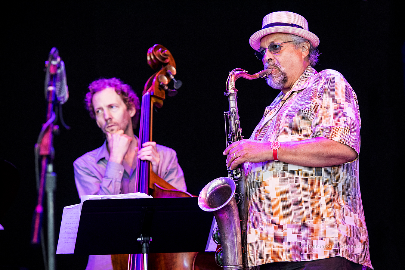 Ben Street and Joe Lovano at the Freihofer Saratoga Jazz Festival 2017