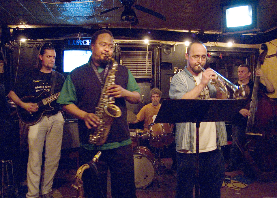 Matt Lavelle Quintet with Ras Moshe, Anders Nilsson, Francois Grillot and Lou Grassi - Freddy's Backroom 2006