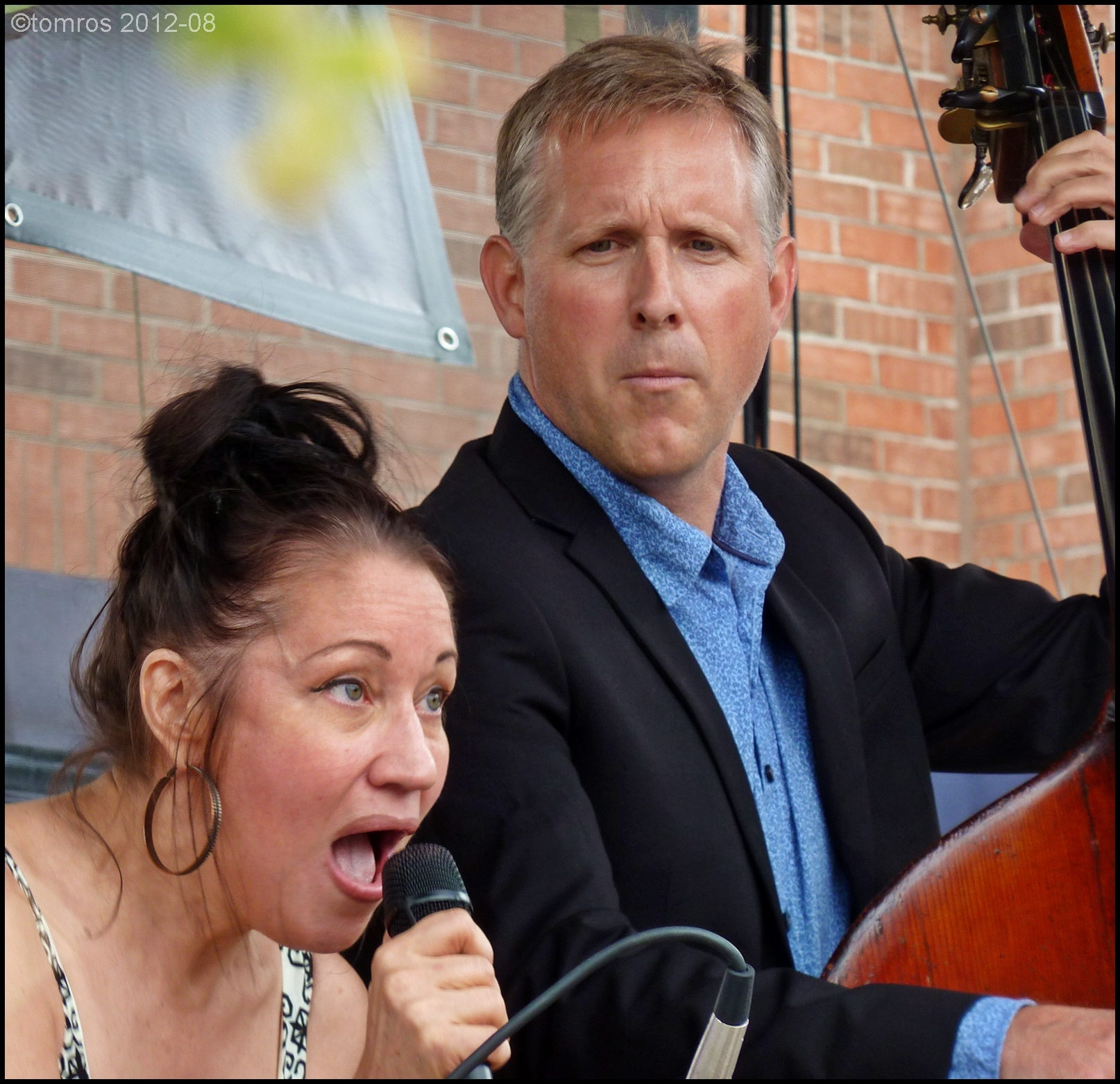 Holly Cole and Base Player - Mike Downes at Oakville Jazz Festival