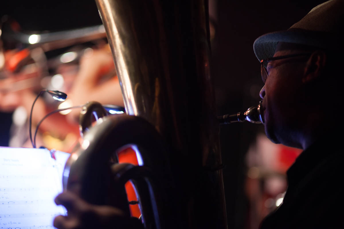 Ron Wilkins on Tuba with Musuko Brass Band in Brooklyn, NY