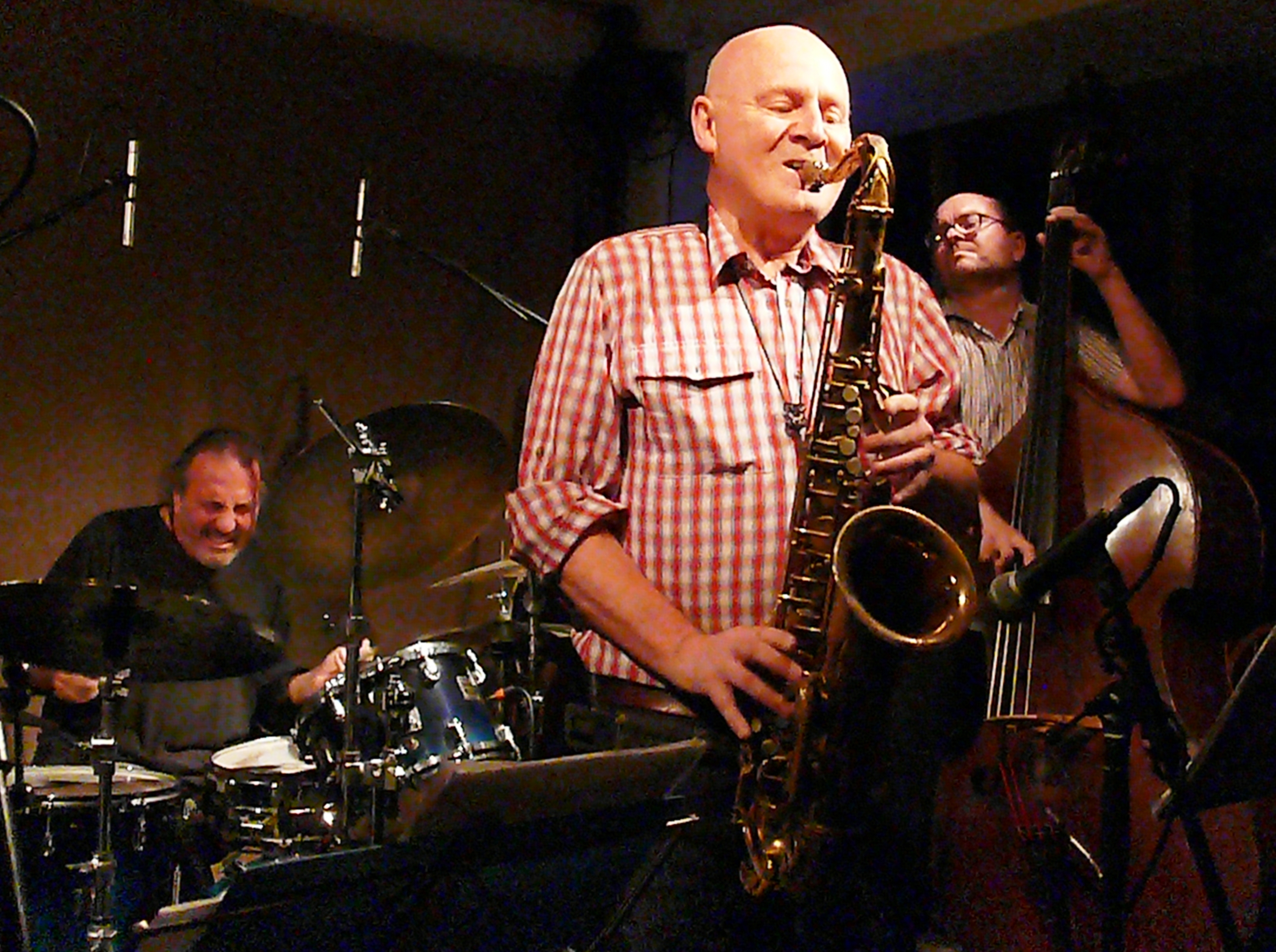 Tony Bianco, Howard Cottle and Olie Brice at Cafe Oto, London in July 2017