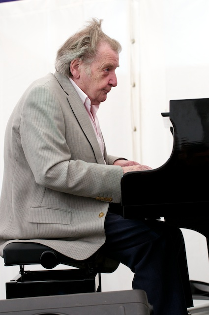 Stan Tracey Playing Piano at the Swanage Jazz Festival