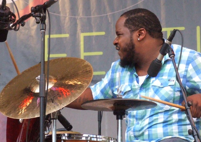 Joe Blaxx with Maurice Brown Effect at 2011 Chicago Jazz Festival
