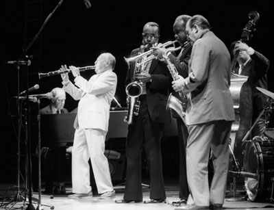 Woody Herman 0325017 Jvc-Capital Jazz Royal Festival Hall London July 1985 Images of Jazz
