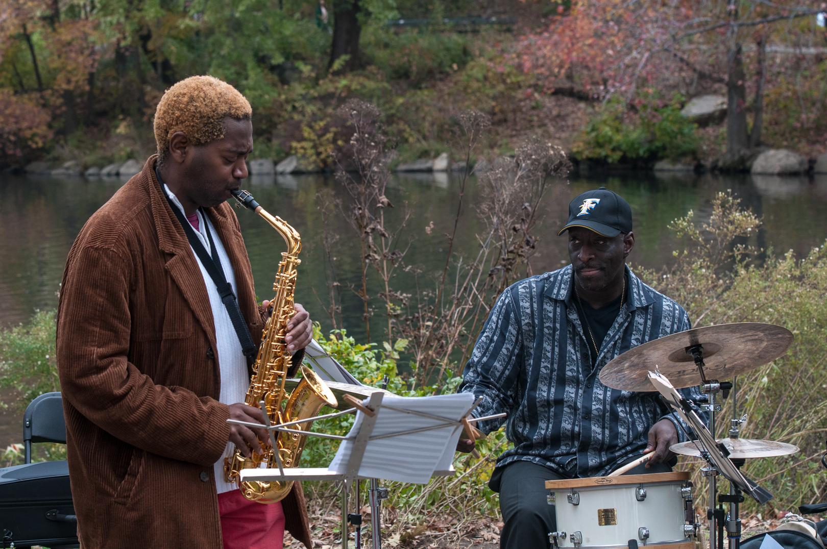 Yosvanny Terry and Willard Dyson at Jazz and Colors in Central Park