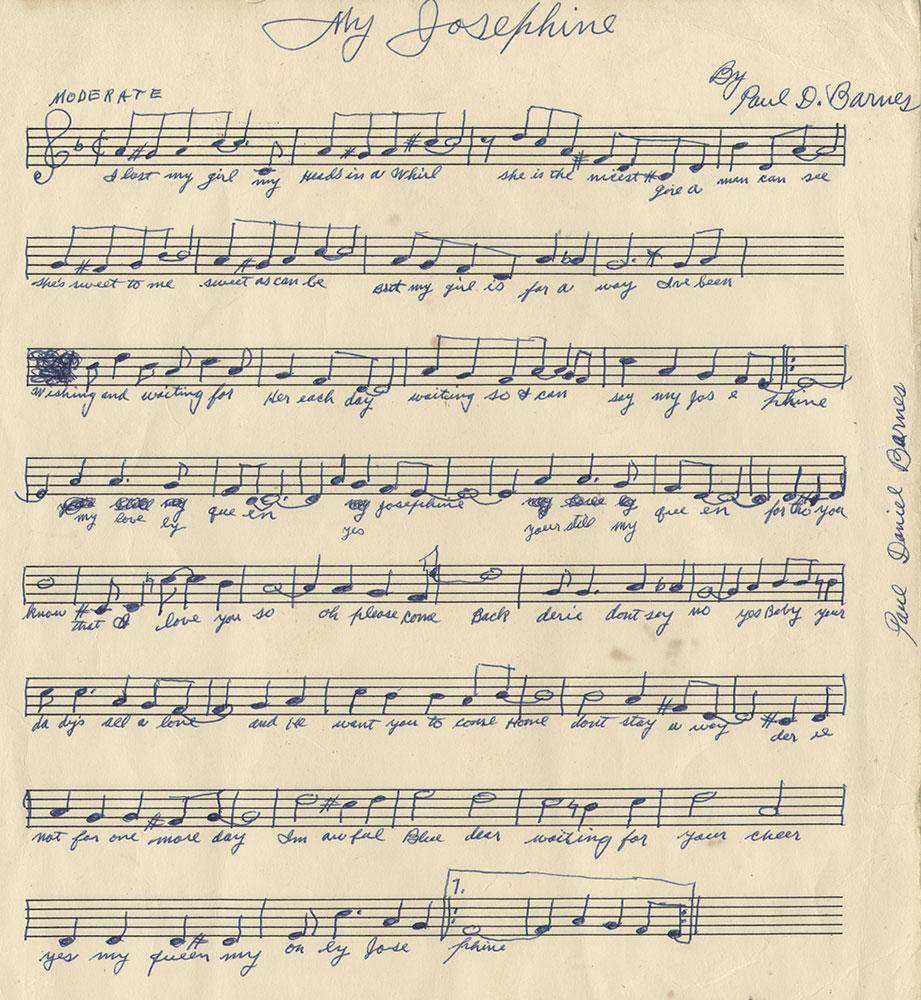 My josephine original manuscript