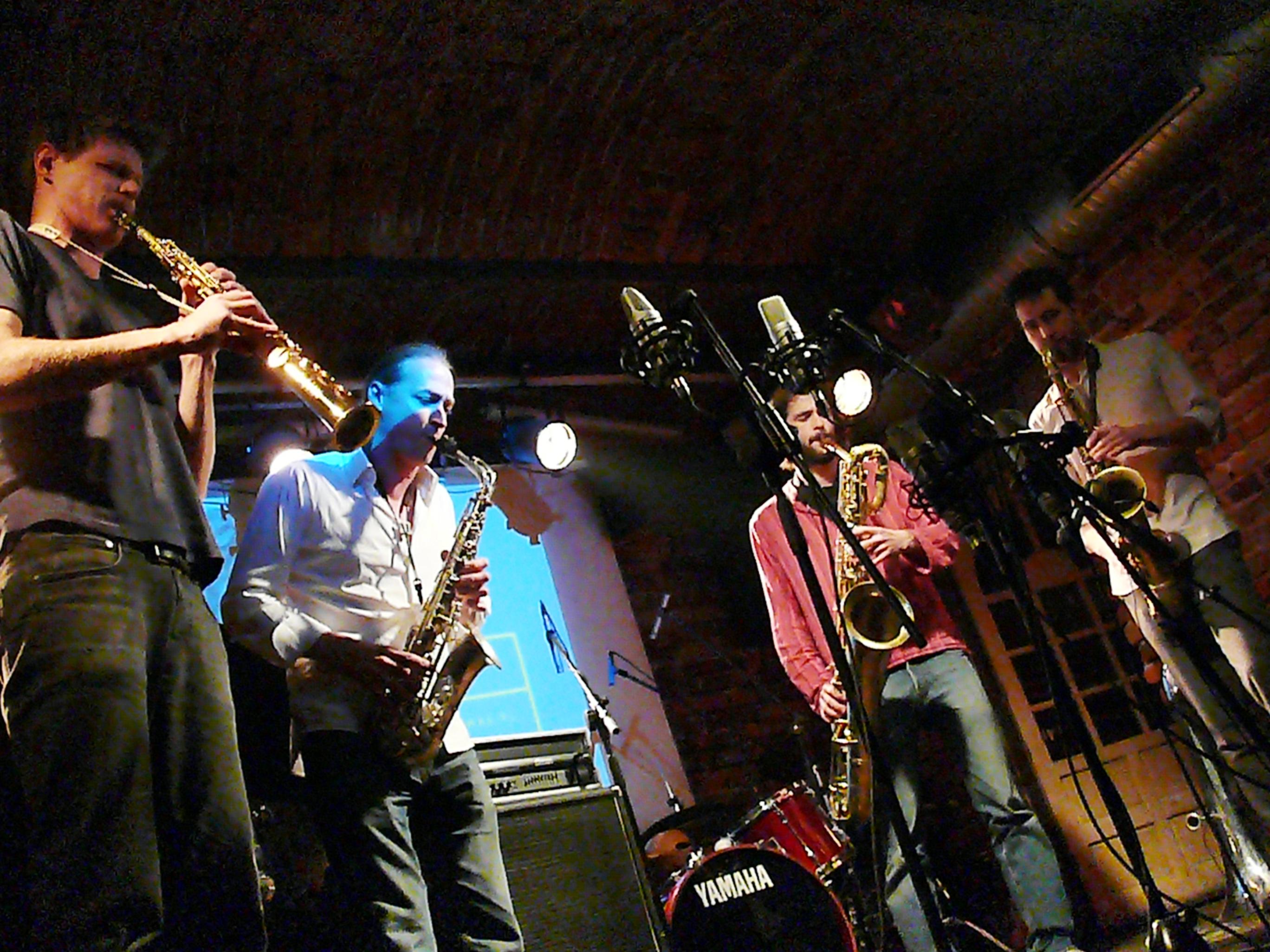 Torben Snekkestad, Michael Niesemann, Julius Gabriel and Per Texas Johansson at Alchemia, Krakow in November 2014