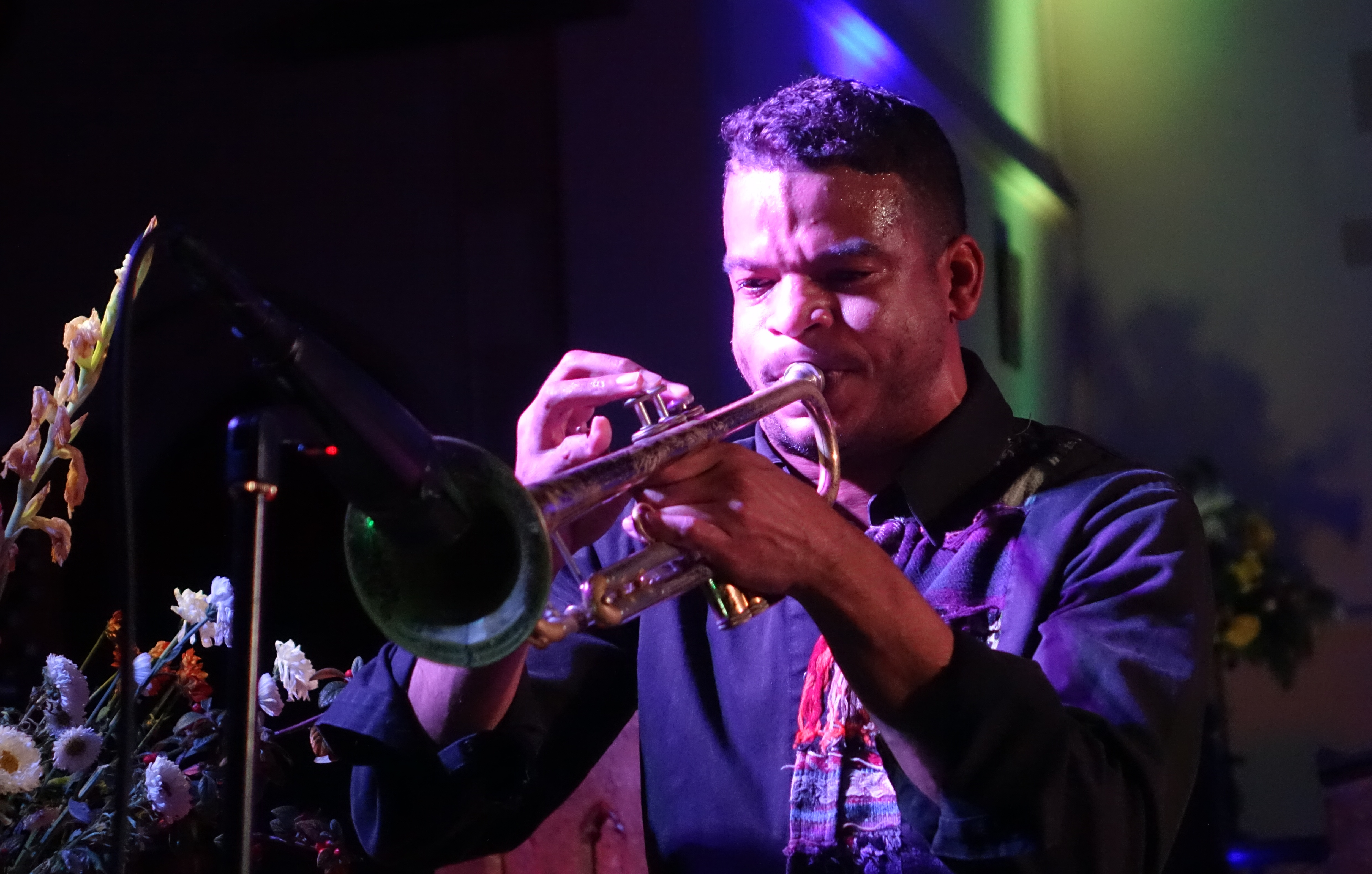 Aquiles Navarro at Brighton Alternative Jazz Festival in October 2018