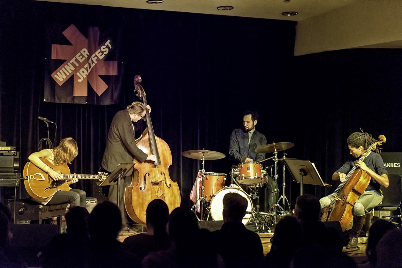 Mary Halvorson, Jason Roebke, Tomas Fujiwara and Tomeka Reid at The NYC Winter Jazzfest 2017