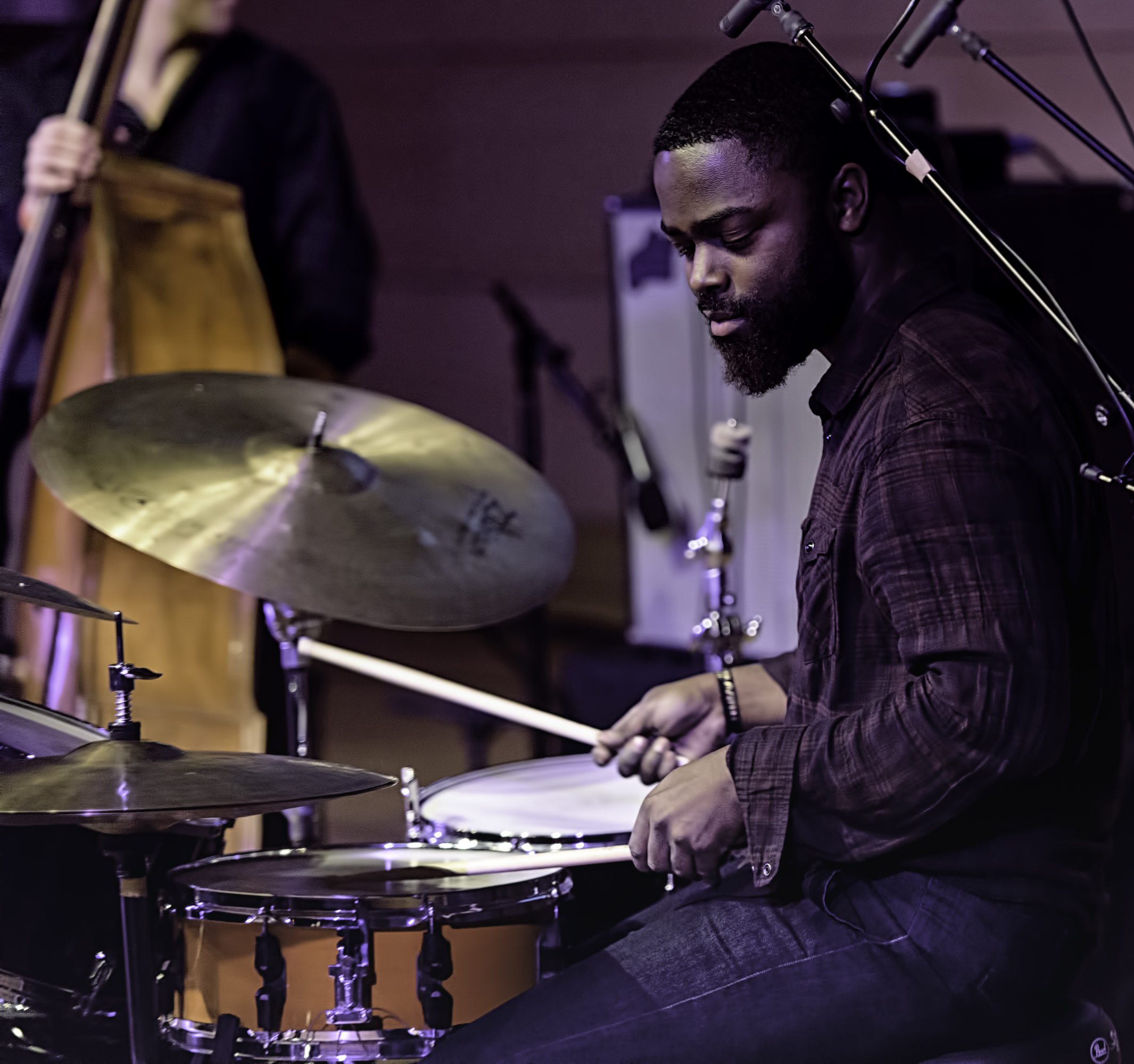 Marcus Gilmore with the Vijay Iyer Trio At The NYC Winter Jazzfest 2016