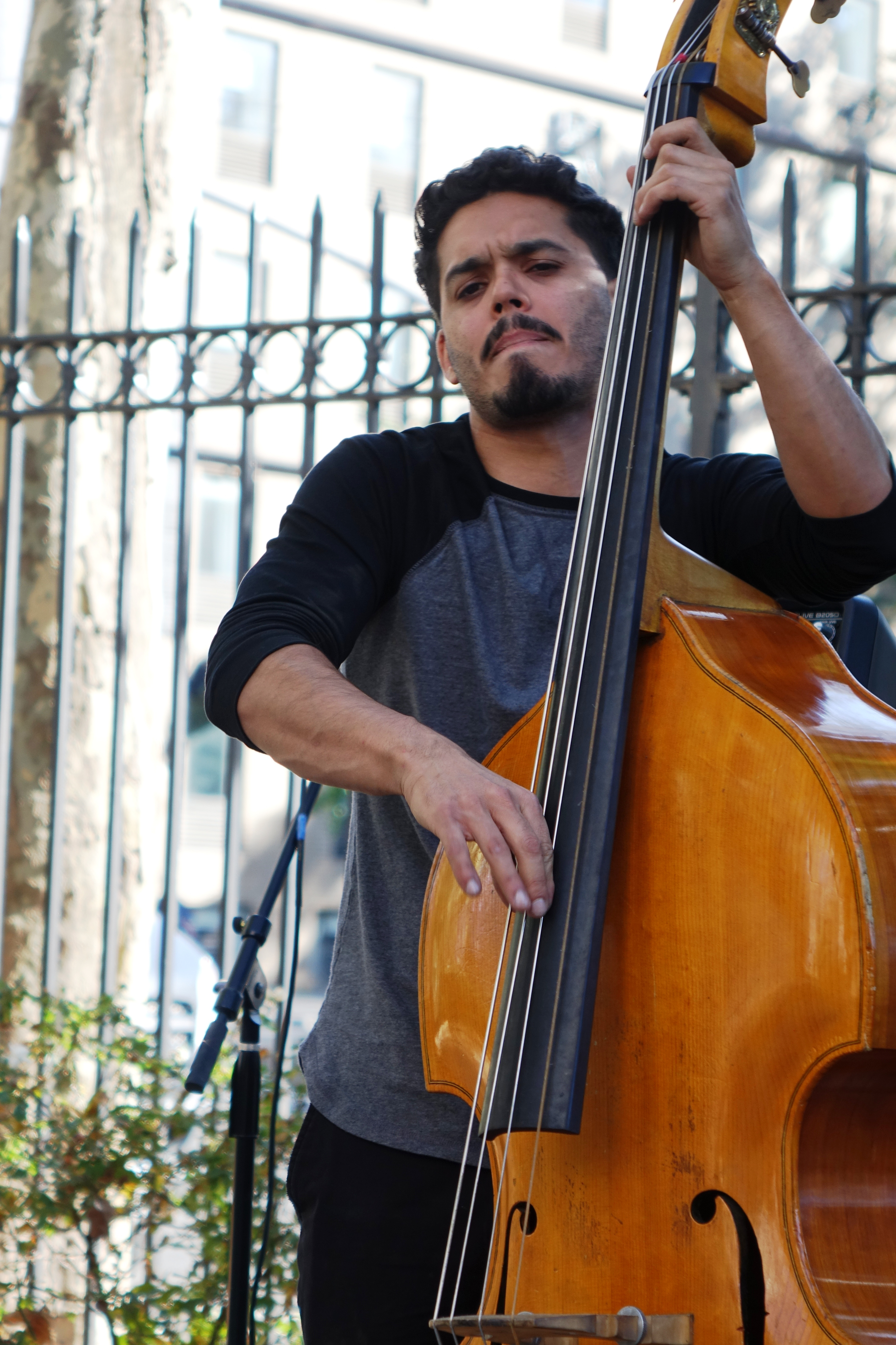 Brandon Lopez at First Street Green, NYC in October 2017