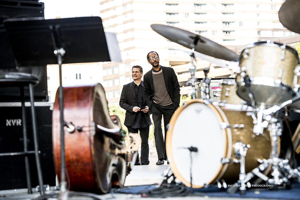 John Patitucci and Brian Blade at the 2017 Detroit Jazz Festival