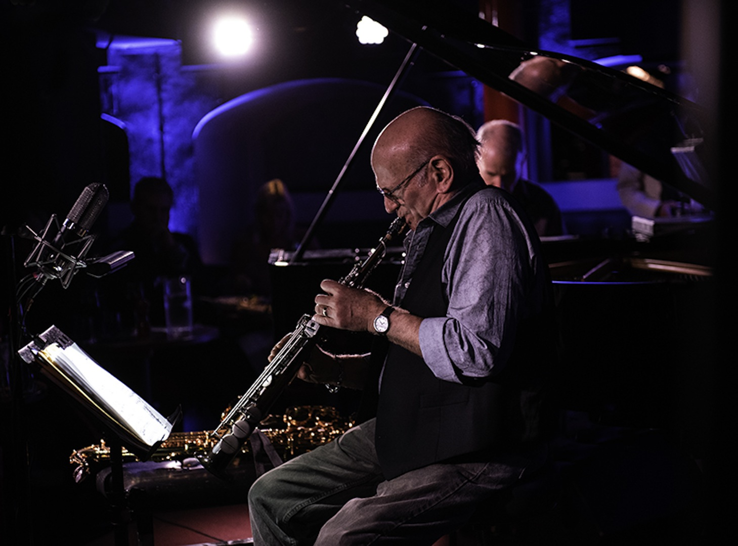 Dave Liebman and Marc Copland by Siobhan Bradshaw Photography.