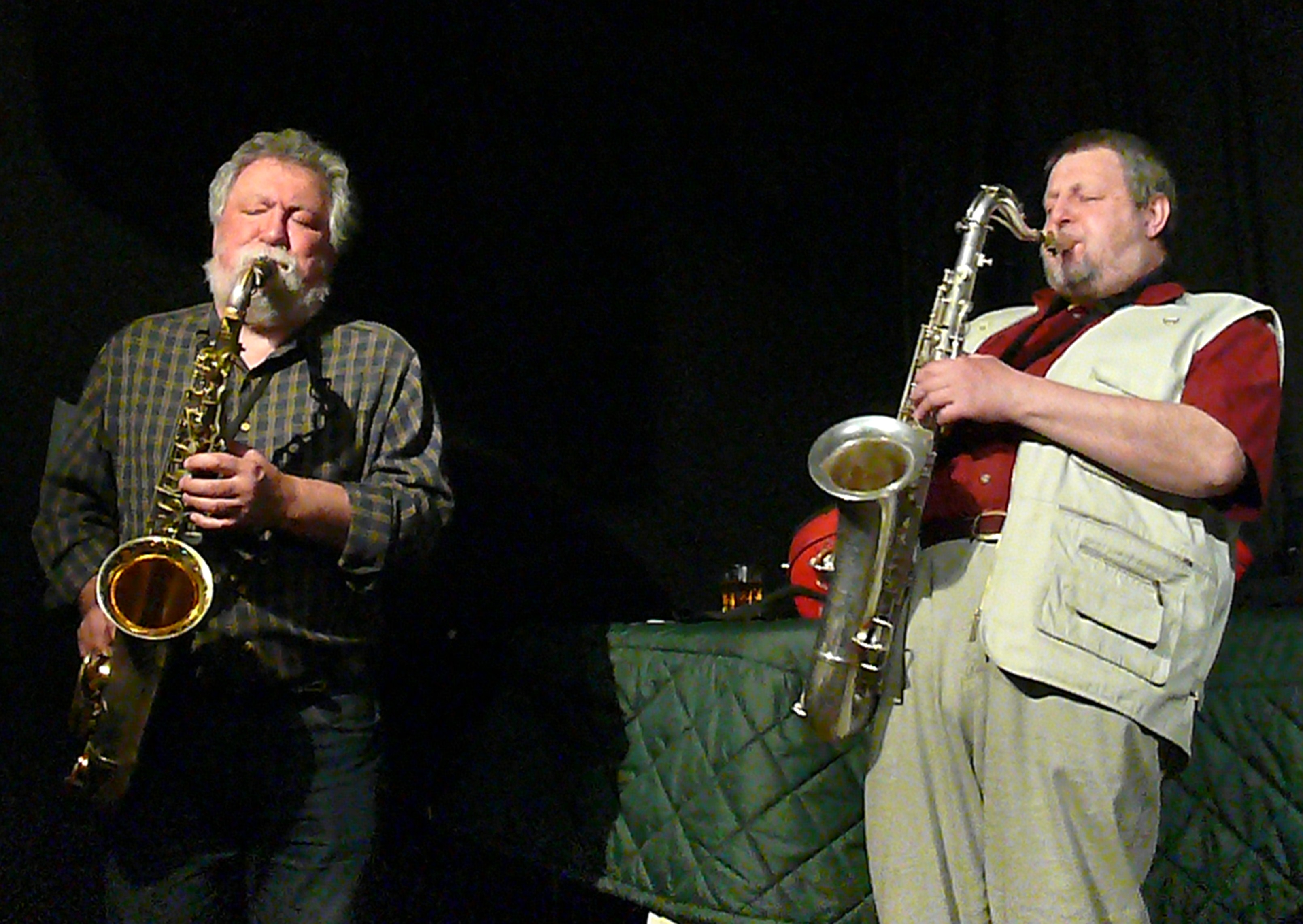 Evan Parker and Paul Dunmall at the Vortex, London, February 2010