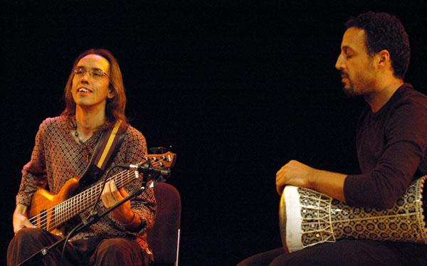 Bjorn Meyer and Khaled Yassine with Anouar Brahem, Enjoy Jazz, Mannheim, Germany 2009