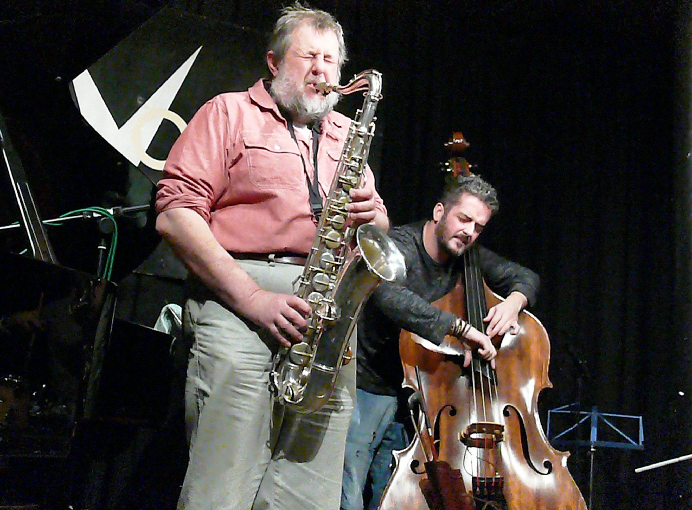 Paul Dunmall and Dave Kane at the Vortex, London in January 2012