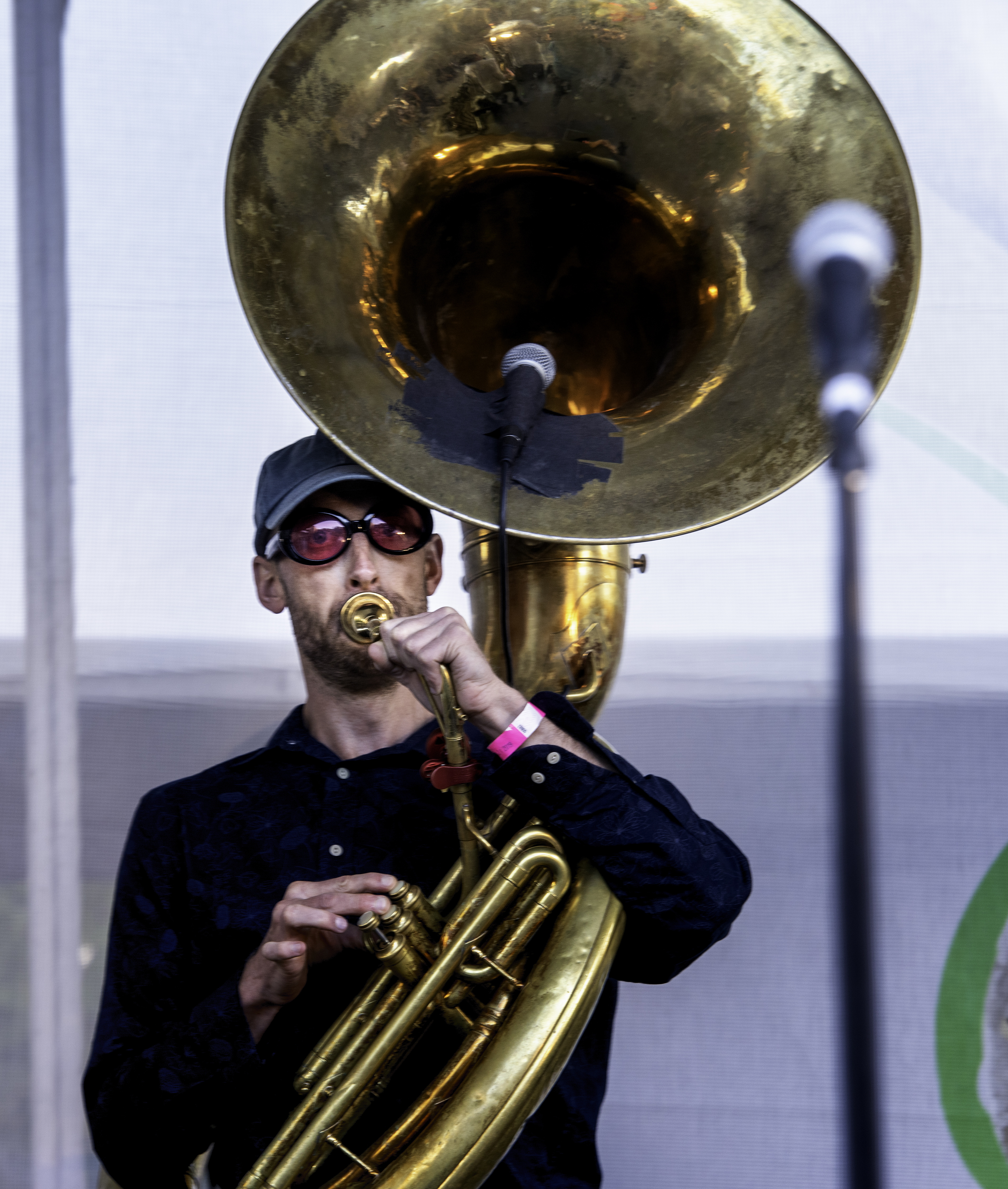 Tom Richards with the Heavyweight Brass Band at the Toronto Jazz Festival 2019