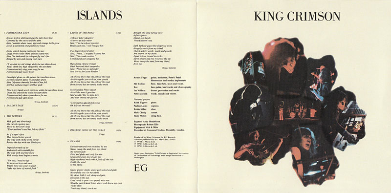 King Crimson, Islands Us Gatefold Cover - Inside
