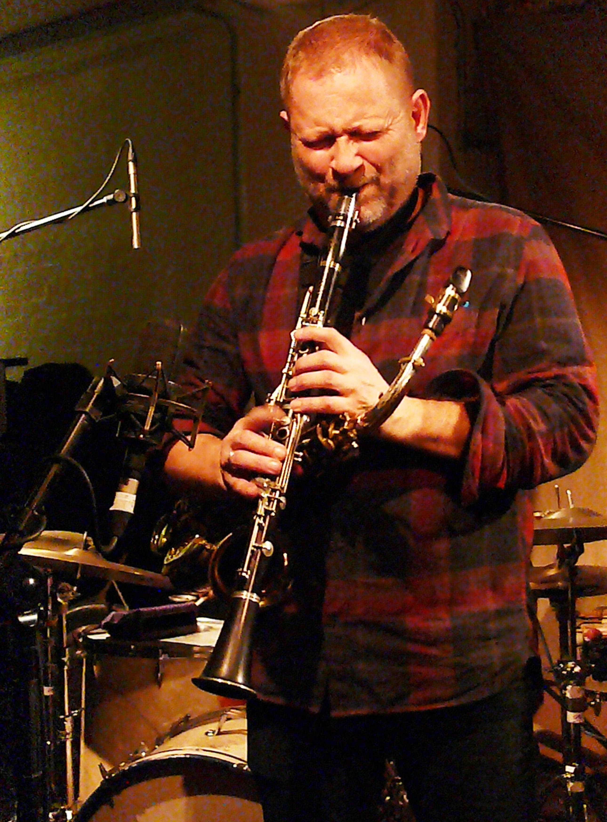 Mikolaj Trzaska at Cafe Oto, London in December 2016