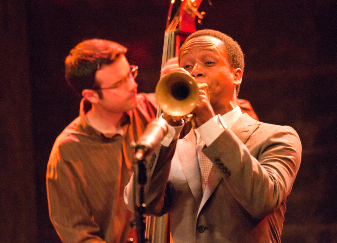 Evan Gregor and Jason Palmer with the Grace Kelly Quartet at the Montreal International Jazz Festival 2011