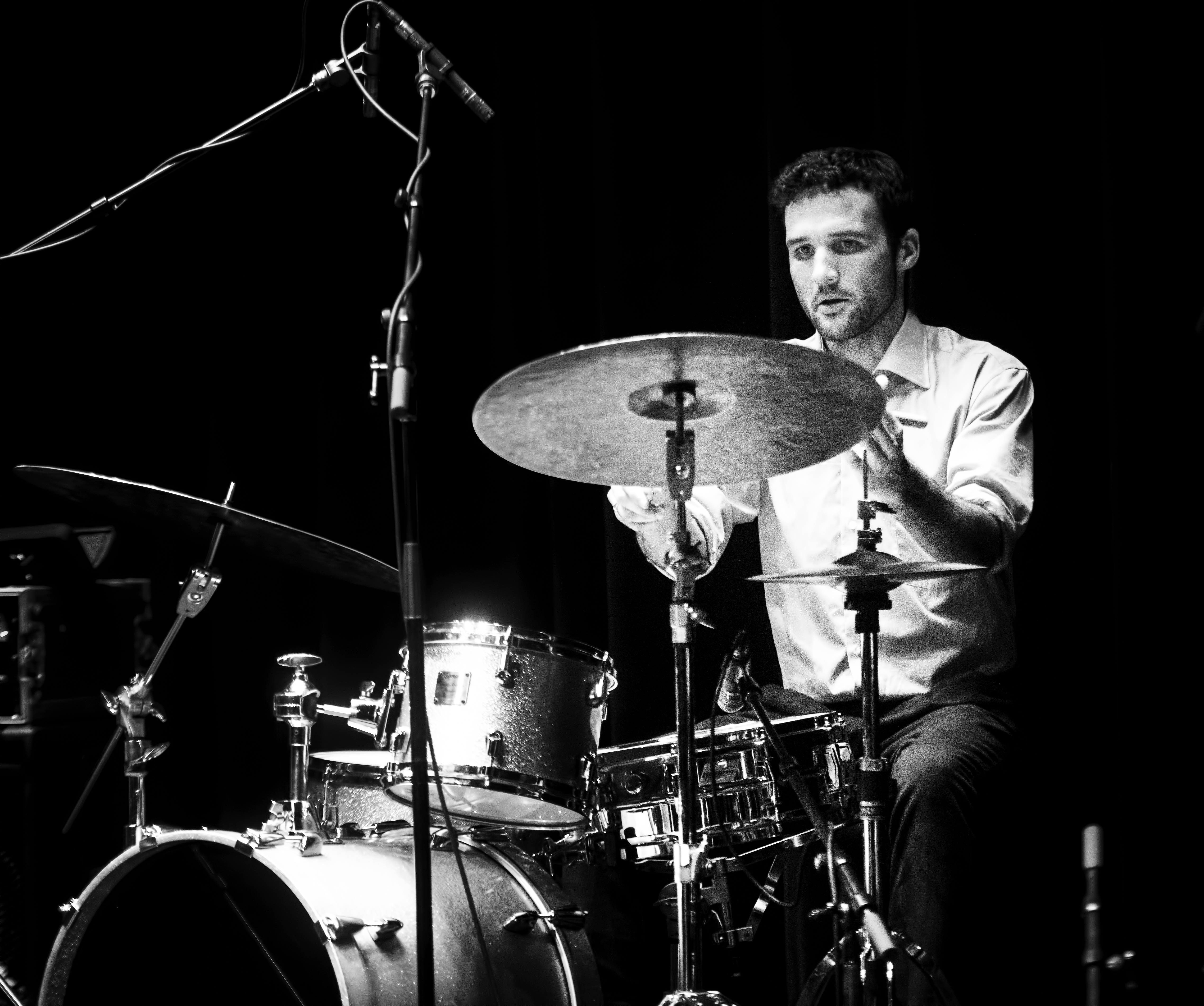 Evan Cartwright with the Brodie West Quintet at the Guelph Jazz Festival 2019