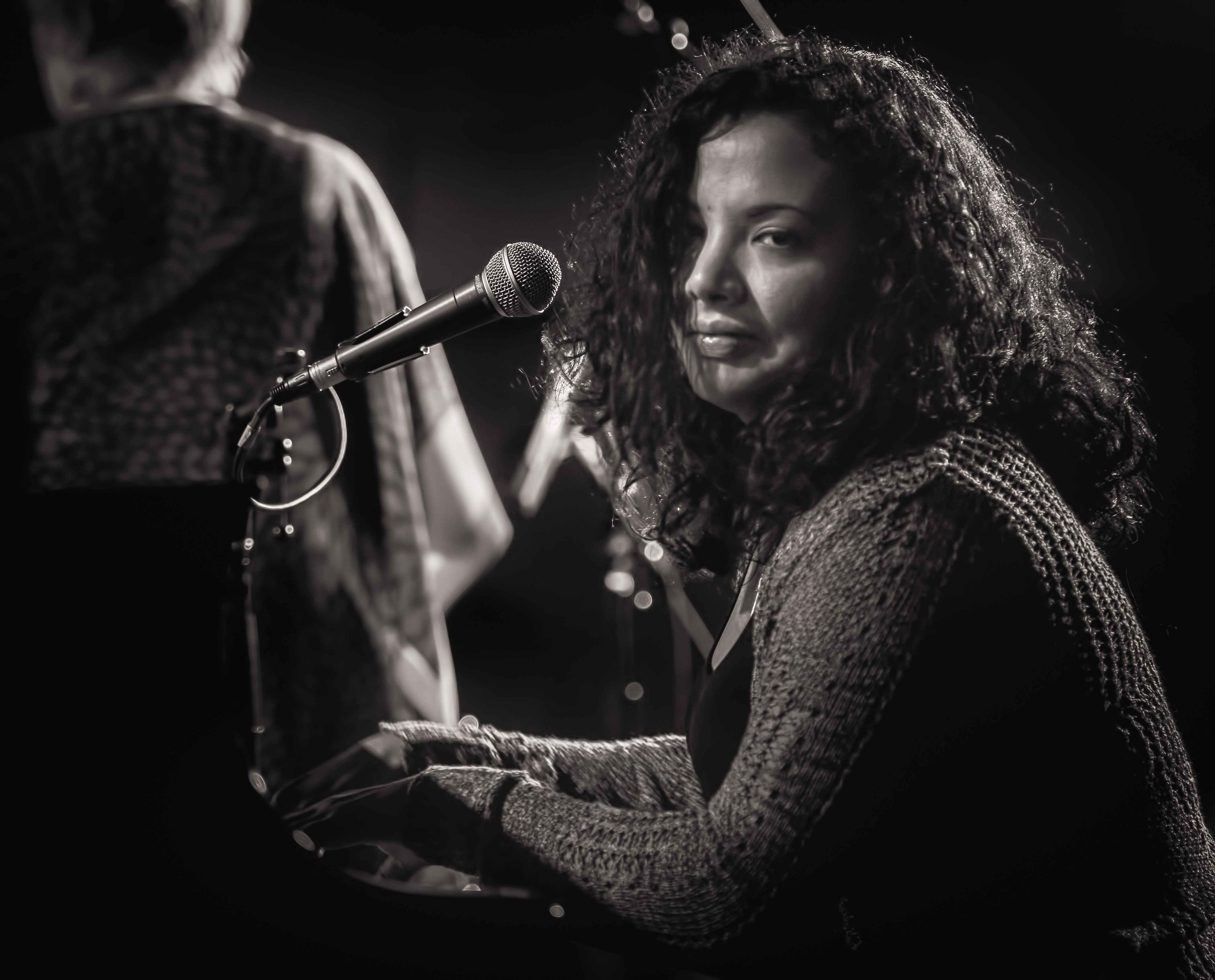 Dánae Olano with Jane Bunnett and Maqueque at the Monterey Jazz Festival 2018